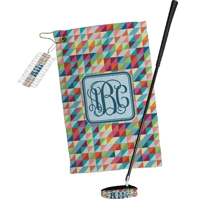 Retro Triangles Golf Towel Gift Set (Personalized)