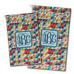 Retro Triangles Golf Towel - Full Print w/ Monogram