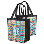 Retro Triangles Grocery Bag (Personalized)