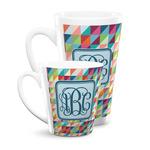 Retro Triangles Latte Mug (Personalized)
