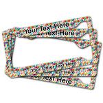 Retro Triangles License Plate Frame (Personalized)
