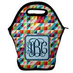 Retro Triangles Lunch Bag w/ Monogram