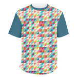 Retro Triangles Men's Crew T-Shirt (Personalized)
