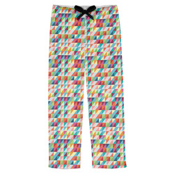 Retro Triangles Mens Pajama Pants (Personalized)