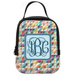 Retro Triangles Neoprene Lunch Tote (Personalized)
