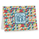 Retro Triangles Notecards (Personalized)