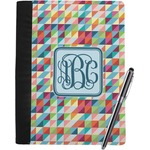 Retro Triangles Notebook Padfolio (Personalized)