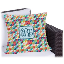 Retro Triangles Outdoor Pillow (Personalized)