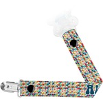 Retro Triangles Pacifier Clips (Personalized)