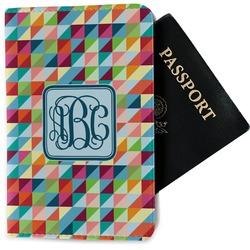 Retro Triangles Passport Holder - Fabric (Personalized)