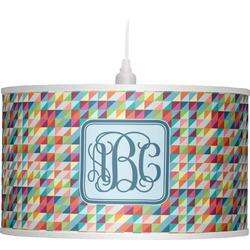 Retro Triangles Drum Pendant Lamp (Personalized)