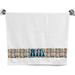 Retro Triangles Bath Towel (Personalized)