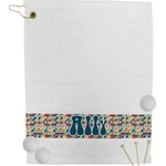 Retro Triangles Golf Towel (Personalized)