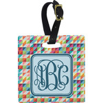 Retro Triangles Luggage Tags (Personalized)