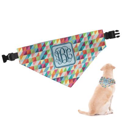 Retro Triangles Dog Bandana (Personalized)
