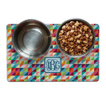 Retro Triangles Dog Food Mat (Personalized)