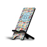 Retro Triangles Phone Stand (Personalized)