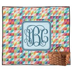 Retro Triangles Outdoor Picnic Blanket (Personalized)