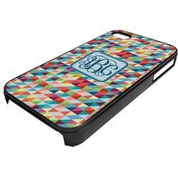 Retro Triangles Plastic 4/4S iPhone Case (Personalized)