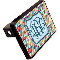 "Retro Triangles Rectangular Trailer Hitch Cover - 2"" (Personalized)"