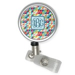 Retro Triangles Retractable Badge Reel (Personalized)