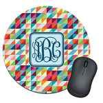 Retro Triangles Round Mouse Pad (Personalized)