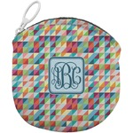 Retro Triangles Round Coin Purse (Personalized)