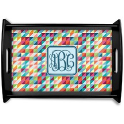 Retro Triangles Wooden Trays (Personalized)