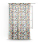 Retro Triangles Sheer Curtains (Personalized)