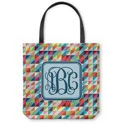 Retro Triangles Canvas Tote Bag (Personalized)