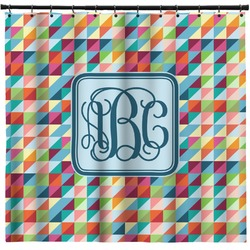 Retro Triangles Shower Curtain (Personalized)