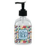 Retro Triangles Soap/Lotion Dispenser (Glass) (Personalized)