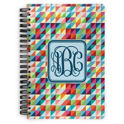 Retro Triangles Spiral Bound Notebook (Personalized)