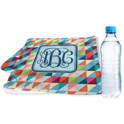 Retro Triangles Sports Towel (Personalized)