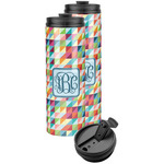 Retro Triangles Stainless Steel Skinny Tumbler (Personalized)
