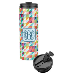 Retro Triangles Stainless Steel Tumbler (Personalized)