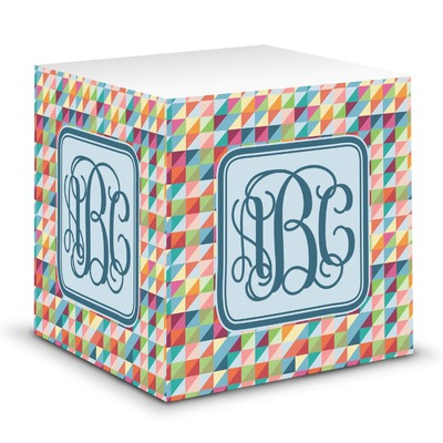 Retro Triangles Sticky Note Cube (Personalized)