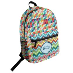 Retro Triangles Student Backpack (Personalized)