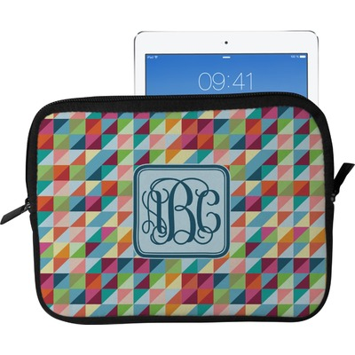 Retro Triangles Tablet Case / Sleeve - Large (Personalized)