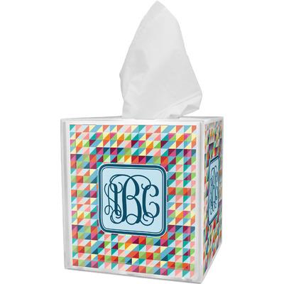 Retro Triangles Tissue Box Cover (Personalized)