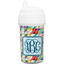 Retro Triangles Sippy Cup (Personalized)