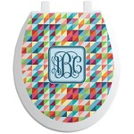 Retro Triangles Toilet Seat Decal (Personalized)