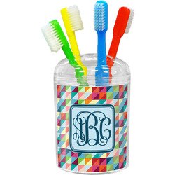 Retro Triangles Toothbrush Holder (Personalized)