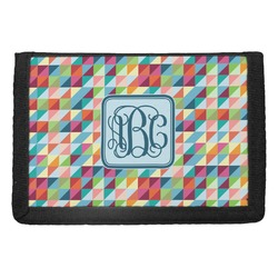Retro Triangles Trifold Wallet (Personalized)