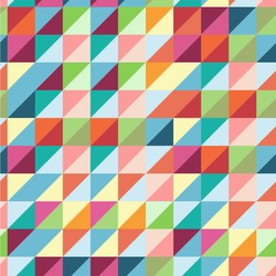 Retro Triangles Wallpaper & Surface Covering