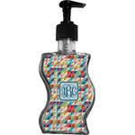 Retro Triangles Wave Bottle Soap / Lotion Dispenser (Personalized)