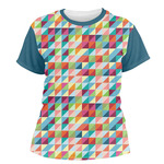 Retro Triangles Women's Crew T-Shirt (Personalized)