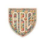 Retro Triangles Genuine Maple or Cherry Wood Sticker (Personalized)