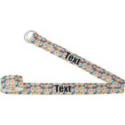 Retro Triangles Yoga Strap (Personalized)