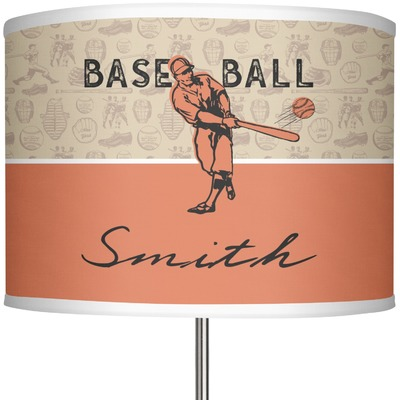 "Retro Baseball 13"" Drum Lamp Shade (Personalized)"